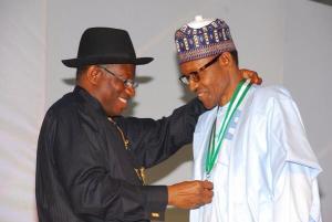 President Jonathan and his challenger Muhammadu Buhari